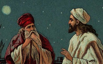 Jesus and Nicodemus, which fits the theme of this announcement.