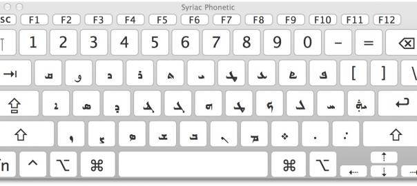 syriac keyboard for mac os x